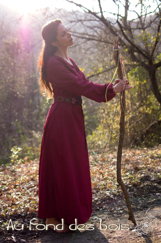 robe menestrelle rouge